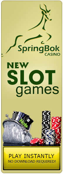 New Slot games have just come in at Springbok Casino - come see!